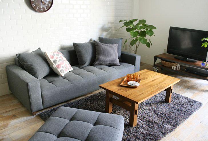 QUEUE(キュー) ソファ 3シーター | ≪unico≫オンラインショップ:家具/インテリア/ソファ/ラグ等の販売。