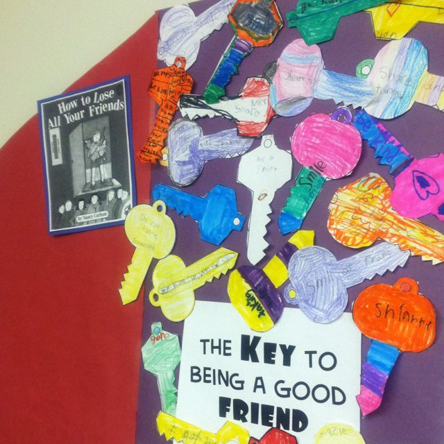 Keys to being a good friend. Looks like an awesome bulletin board