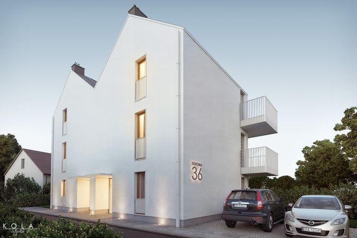 Visualization of a small, modern, minimalist residential building - #architecturalvisualization,#architecturalvisualisation #exteriorvisualizations, #residentialarchitecture, #polisharchitecture
