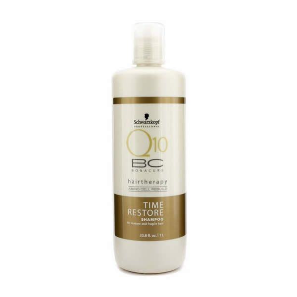 schwarzkopf bc time restore q10 shampoo 1000ml cosmetiques online - Shampoing Schwarzkopf Cheveux Colors
