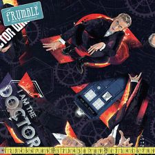 Dr Who fabric 1/4 metre or more Online by BlackTulipQuilts2