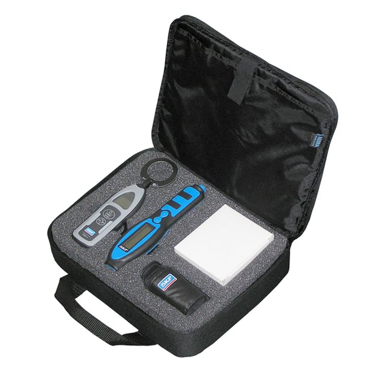 SKF Electric motor assessment kit CMAK 200-SL. A fitting bundle of two measurement devices for electric motors and other industrial assets. The SKF CMAK 200-SL makes the evaluation of electric motor bearings and general machine health simple.
