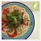 Avokadoomelett med fänkålsdill och parmesan