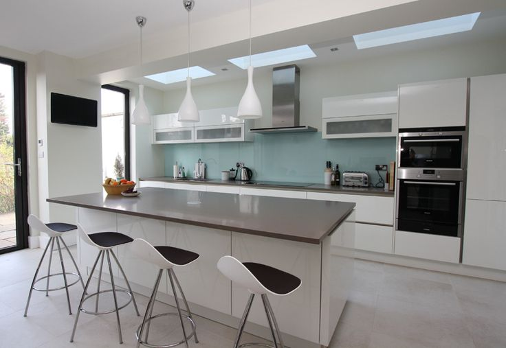 Island Kitchens | LWK Kitchens London - An example of island kitchen seating - Discover more at www.lwk-home.com