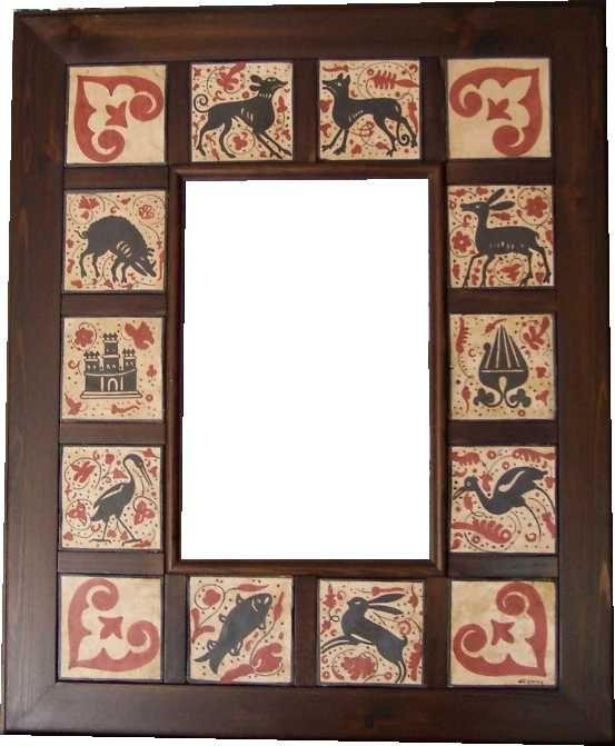 Socarrat Espejo azulejos 10 x 10
