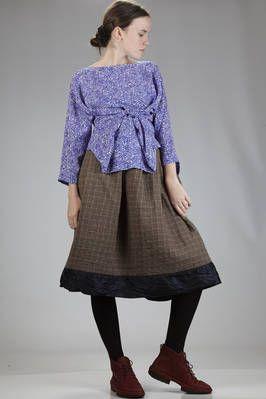 Daniela Gregis | hip-length shirt in silk chine crêpe with irregular micro 8 stamp #danielagregis