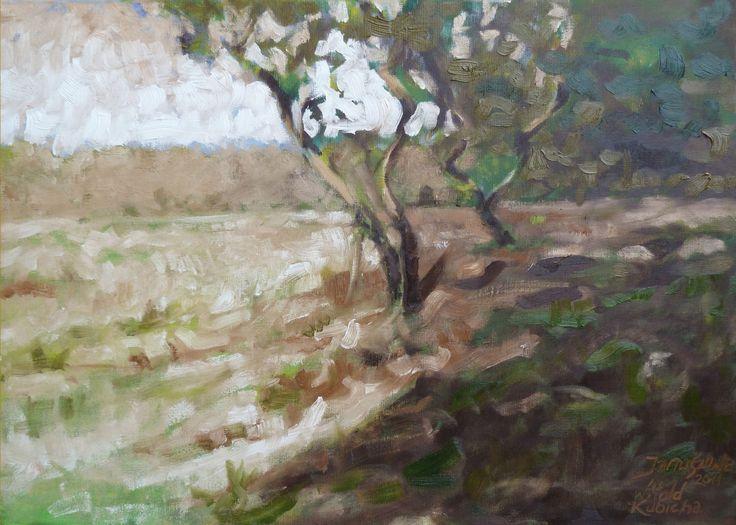 The village Januszowa. Oil on canvas. Author: Witold Kubicha