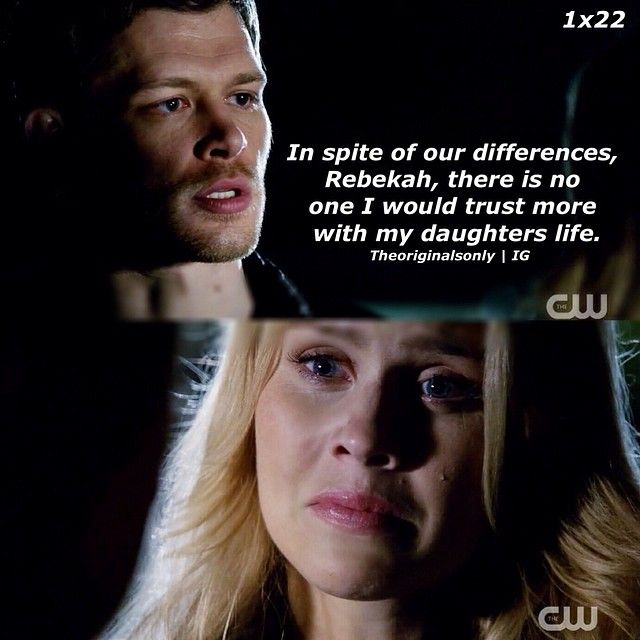 """S1 Ep22 """"From a Cradle to a Grave"""" - Klaus and Rebekah"""