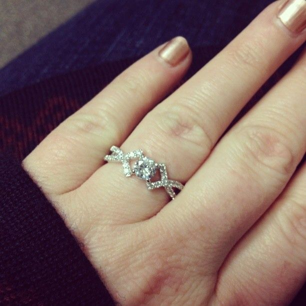 Elegant brilliant cut CZ promise ring with cross design, $42 #instagram #promisering #Love