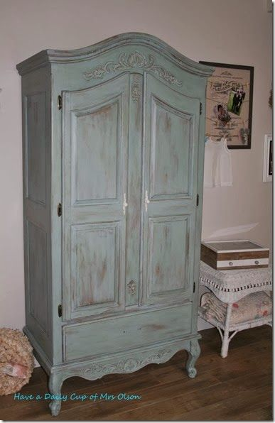 Painted Armoire Duck Egg Blue