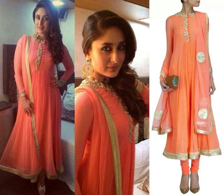 Kareena kapoor in neon anarkali by Ridhi Mehra....this neon luks grt nt too tacky or bright