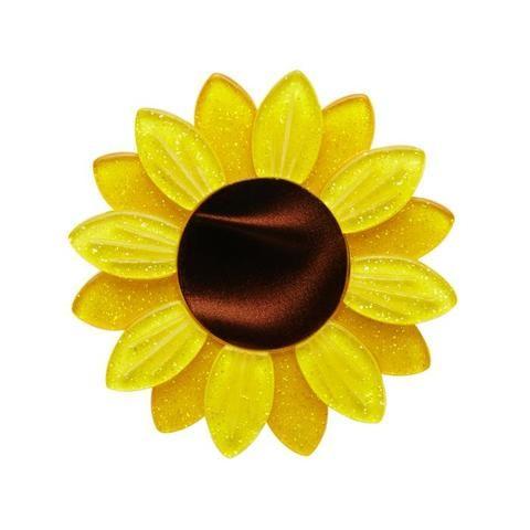 Erstwilder Sumptuous Sunflower Flower Brooch
