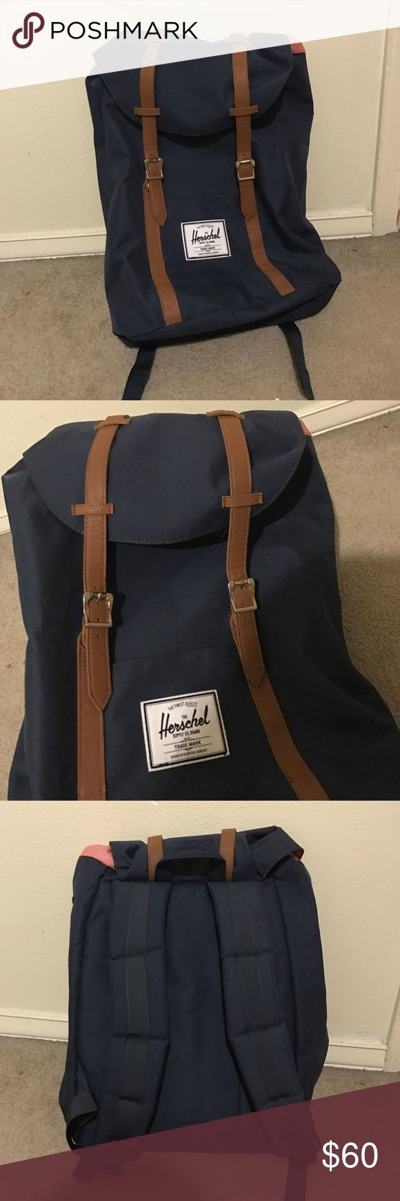 Herschel navy blue backpack bag In excellent condition, original price was $89 bought from Nordstrom Herschel Supply Company Bags Backpacks