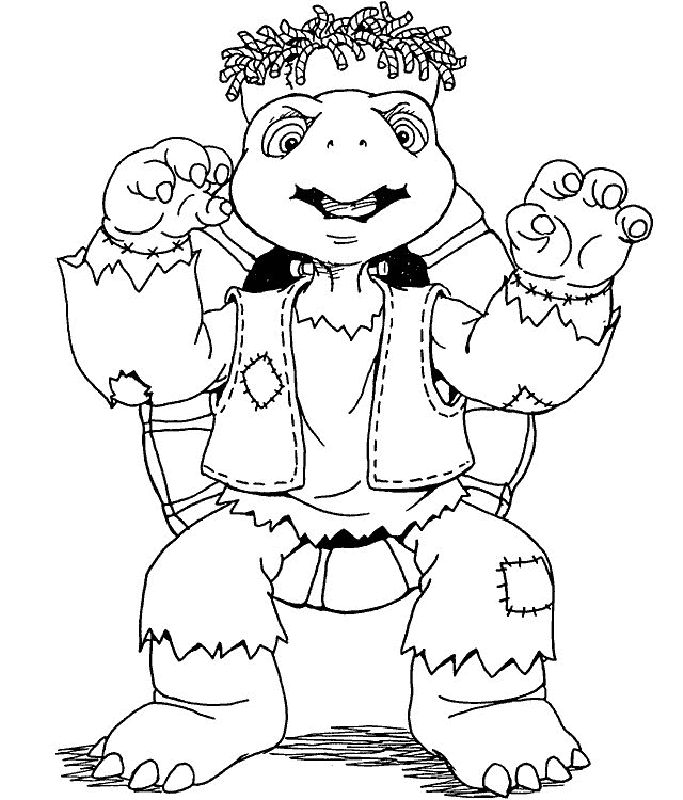 zombie ninja turtle coloring pages - photo#26