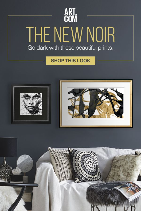 Dark and moody is the only way to describe this series. Balance a colorful or blank white wall with some high-contrast details in a dark, rich black. From portrait art to feathered imagery, we�ve got the inky little touches that your interior needs.