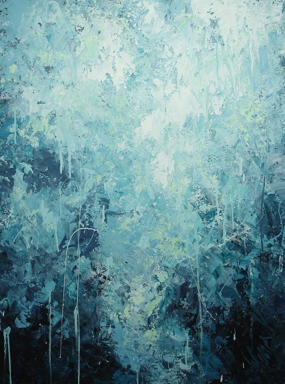ELENA abstract painting huge 30x40 contemporary seascape painting