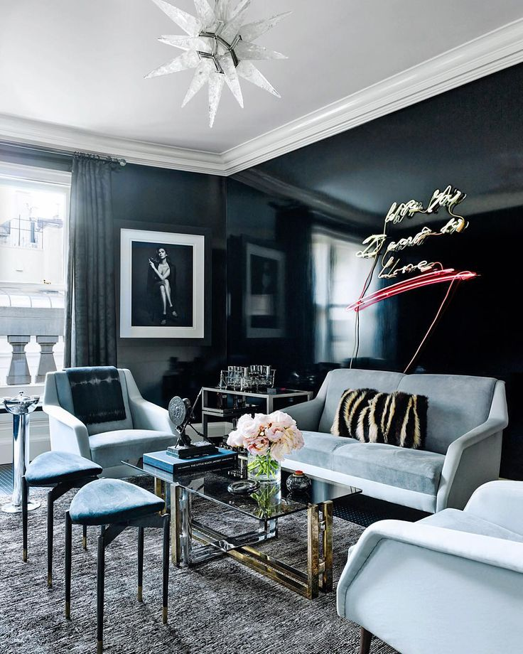 .@archdigest: A chic sitting room in the home of @IngaRubenstein. Photo by @bjornwallander.
