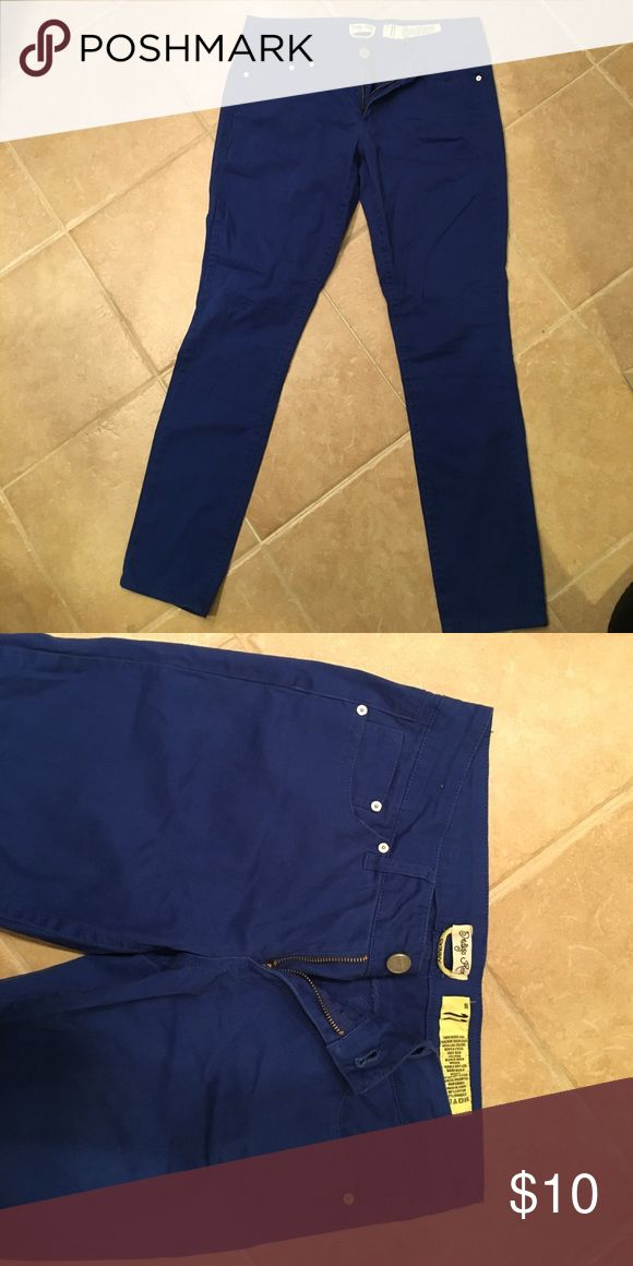 Bright blue skinny pants Bright blue skinny pants, very soft material. Indigo rein size 11 Pants Skinny