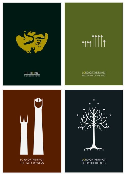LOTR minimalist movie poster - I love everything about this.