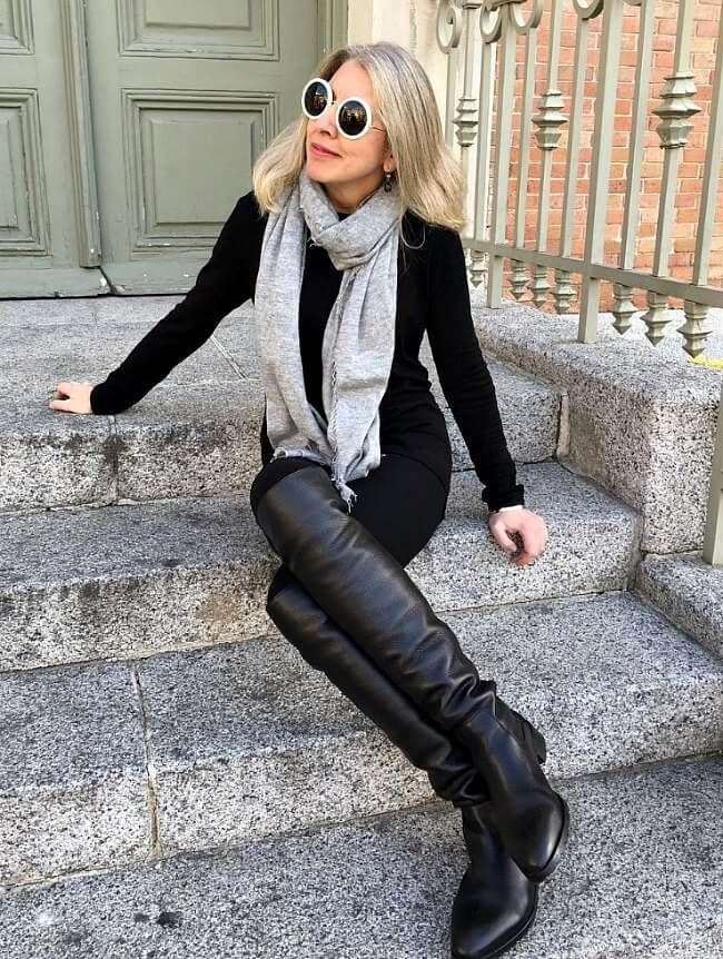 Instagrammer Ironic Girl Wearing Over The Knee Boots