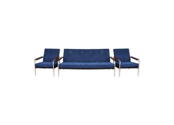 Salon Scandinave En Teck Et Acier Annees 50 Outdoor Sofa Living Room Inspiration Living Room Chairs
