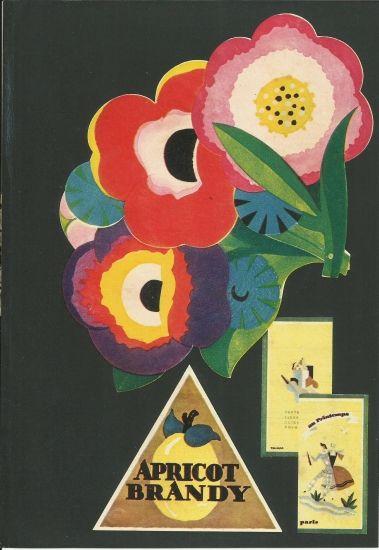 "original art deco print "" poster "" 1930s brandy"