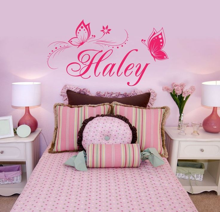 Personalized Name U0026 Butterflies Vinyl Wall Decal Sticker Decor