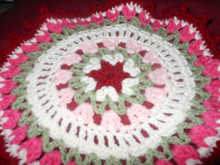 I Love Holland Dutch Tulips Crochet Mandala by Marinke Slump
