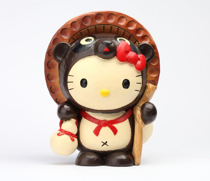 Hello Kitty Japanese Coin Bank: Tanuki