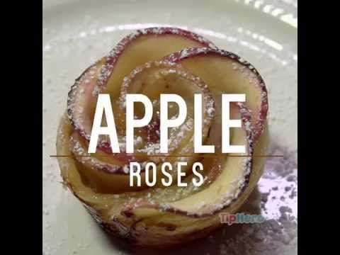 EASY Beautiful Baked Apple Roses.  I recently sent out a long version of these almost too beautiful to eat Baked Apple Roses.  Here's a video and recipe on a quick and equally beautiful version.  I can't wait to try them!  Perfect for fall.  Recipe link below.  #recipe #video  http://tiphero.com/baked-apple-roses/?ref=cmts