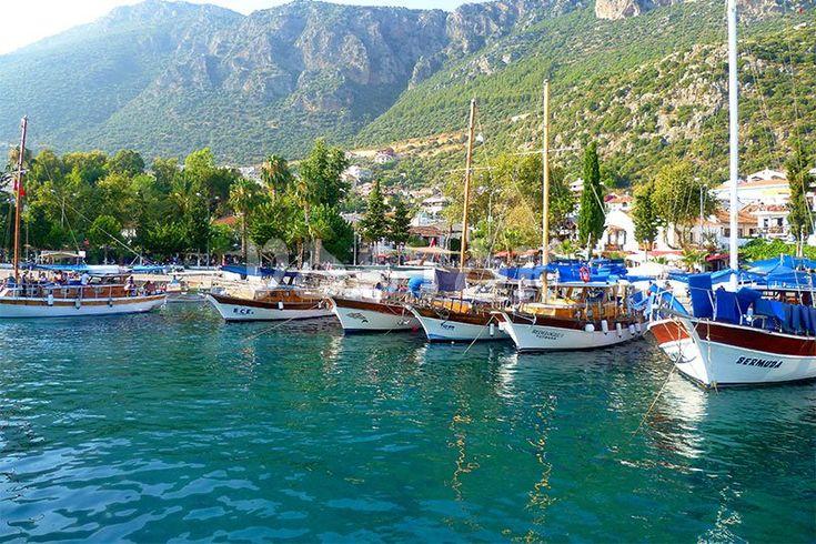 Leisure boats in port Gocek http://www.traveltofethiye.co.uk/explore/attractions/port-gocek-turkey/