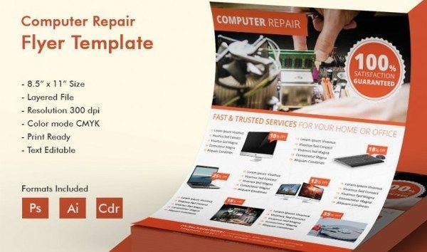Computer Repair Flyer Template Inspirational Puter Repair A5 Promotional Flyer Flyer Template Gallery Computer Repair Repair Computer Repair Services