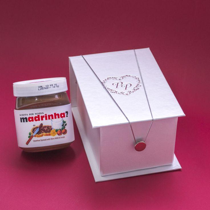 Convite para madrinhas com Nutella - Papel e Estilo