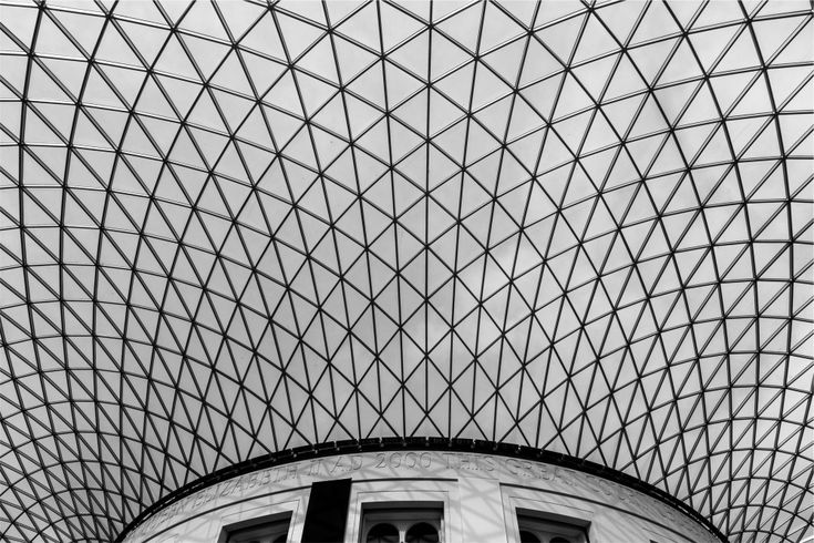 Public Domain Images – Architecture Black and White Geometric Skylight