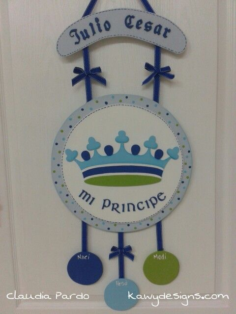 Letrero para darle la bienvenida al principe de la casa . Decoracion para hospital por kawy Designs
