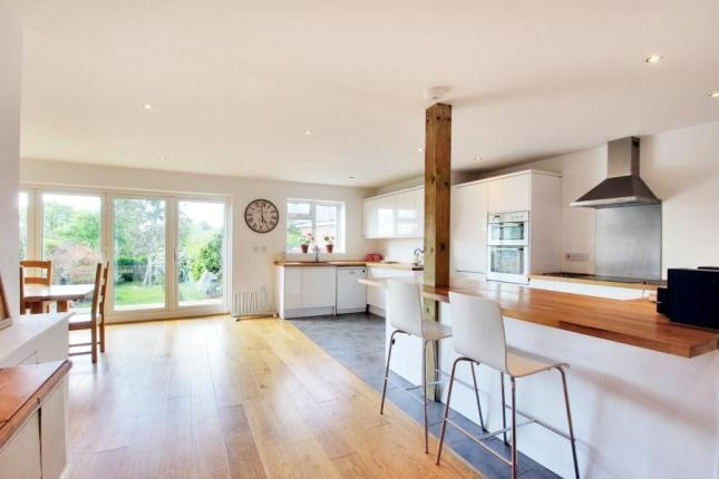 Bungalow for sale - 4 bedrooms in Cavendish Drive, Tunbridge Wells, Kent. Lovely open plan kitchen with oak flooring, slate tiles in kitchen and white gloss units. Very nice bi-fold timber doors too.