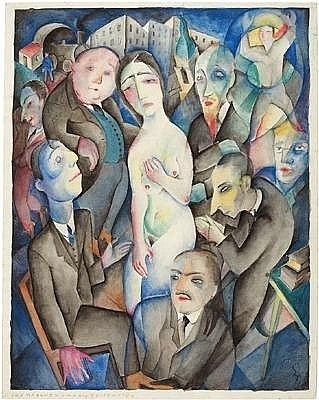 Carry Hauser (Vienna 1895-1985) 'The Girl and the Ghosts', t