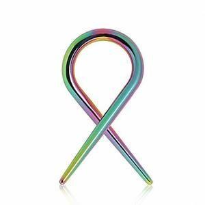 Piercing écarteur spirale titane multicolore (2.0 mm)