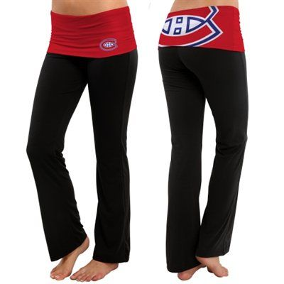 Women's Montreal Canadiens Black Sublime Knit Lounge Pants Not sure why I don't own these yet.....