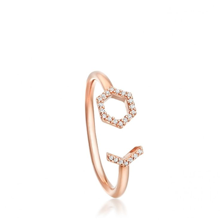 Open Honeycomb Varro Ring | Rose Gold | Astley Clarke London