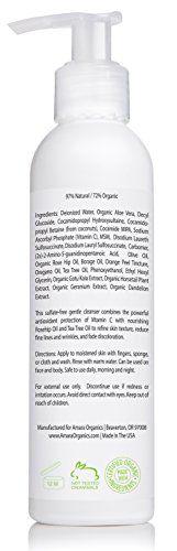 Amara Organics Facial Cleanser with 15% Vitamin C, 6 fl. oz.