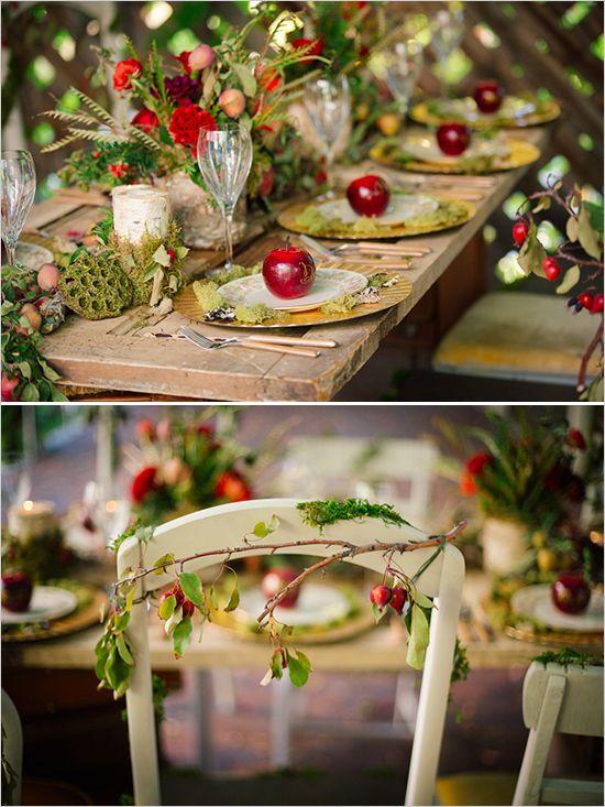 whimsical fairytail themed wedding table