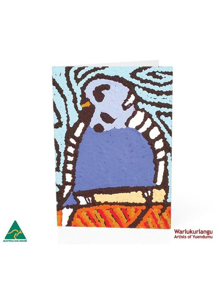 Birds of Yuendumu  Art Card -  Blue