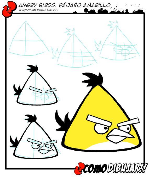 Como dibujar al pájaro amarillo de Angry Birds: http://www.comodibujar.es/tutoriales-dibujo/angrybirds-amarillo-tutorial-chuck/