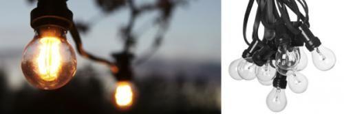 Lyslenker med lyspærer, 230V