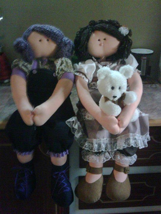 A la venta muñecas de trapo