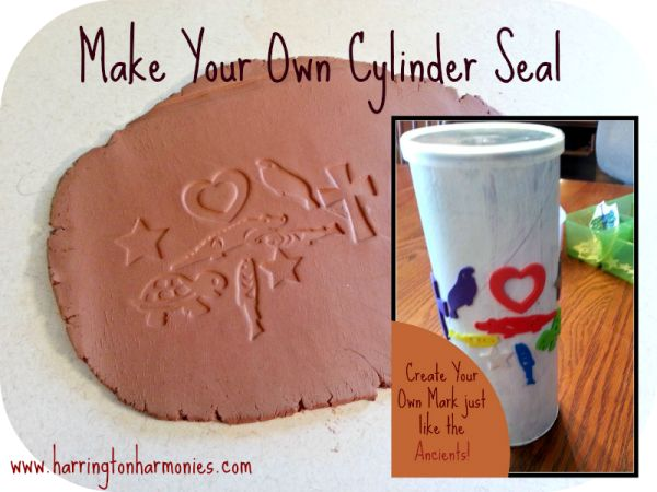 Ancient Sumeria Activity for Kids: Make Your Own Cylinder Seals | Harrington Harmonies