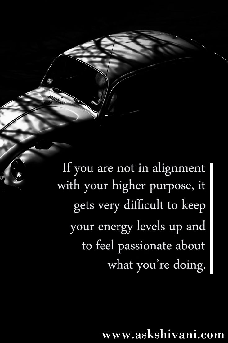 If you are not in alignment with your higher purpose... #getinspired #quotefortoday