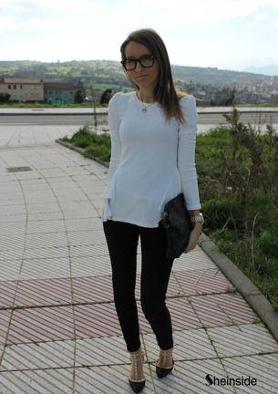 Camiseta gasa volantes mangas largas-Beige