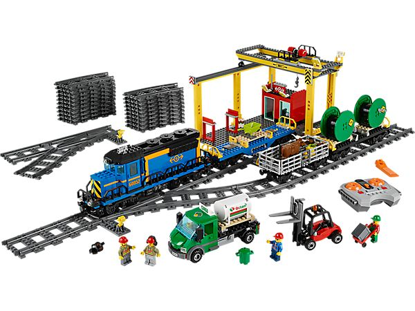 Move heavy goods across LEGO® City with the Cargo Train!